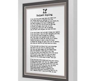 If by Rudyard Kipling Poetry Print