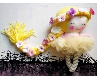 Rapunzel Inspired Doll - Made to order