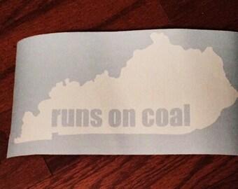 KY Runs on Coal Decal