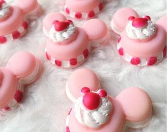 2 pcs.30x35mm.Miniature Cabochon Cookies,Miniature Cookies,Cabochon,Resin,Miniature Sweet,Mobile Accessories,Cabochon Cookies,Minnie