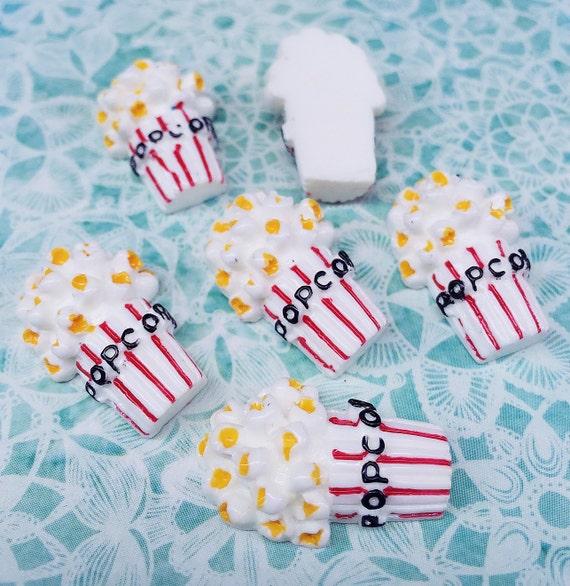 3pcs.16x24mm.Miniature Cabochon Popcorn,Miniature Popcorn,Cabochon,Resin,Miniature Sweet,Mobile Accessories,Fake food,Popcorn Cabochon,DIY