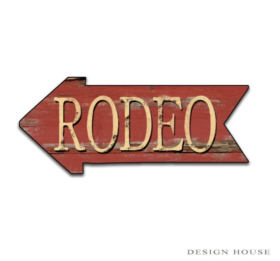 Rodeo red sign Rodeo decor Cowboy decor cowgirl wall decor ski