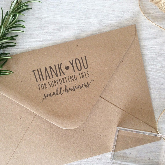 Thank You For Your Purchase Quotes: Thank You For Supporting Small Business Stamp By ClariseStamps