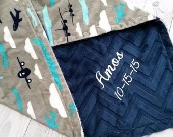 Personalized Baby Blanket, Boy Baby Blanket, Boy Minky Blanket, Personalized Minky Blanket, Monogrammed Blanket