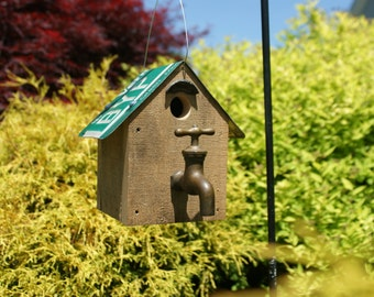 Whimsical birdhouse perfect for home or garden