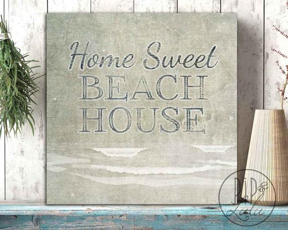 home sweet beach house wall art on