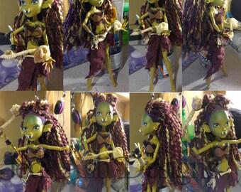 Fantasy Inspired Orc Monster High Custom Doll