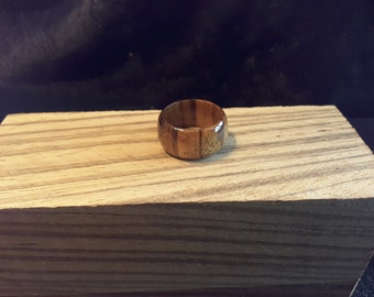 Ready to ship / African Zebra Wood Ring. Size 7.5