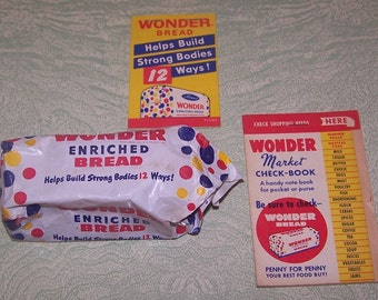 Miniature sample Wonder Bread Shopette Wonder Market Check-Book shopping list pad ephemera