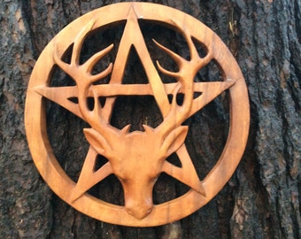 Pentacle with stag
