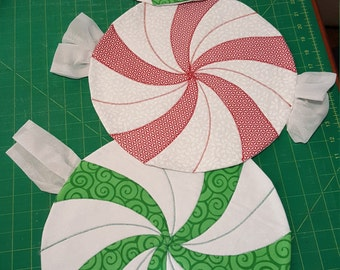 Christmas Candy Quilted Placemats