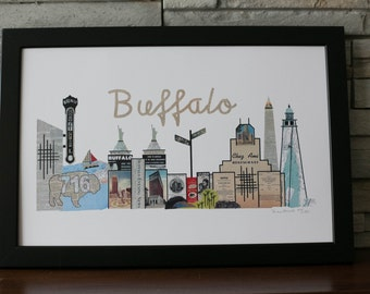 Buffalo New York Skyline Limited Edition