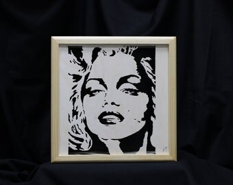 Marilyn Monroe Portrait Shadow Box
