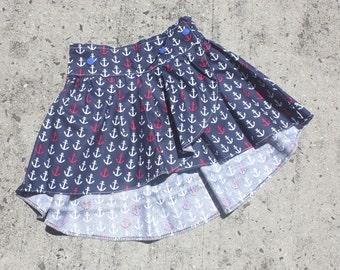 Anchors Away Toddler Skirt Size 1