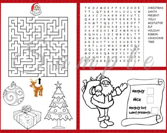 Christmas coloring | Etsy