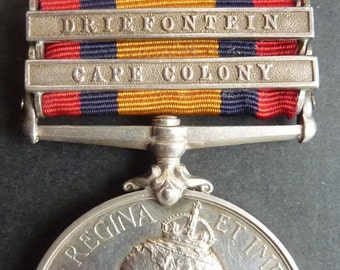 British Queens South Africa Medal 1899/1901 With Two Bars (Driefontein and Cape Colony) To Grenadier Guards Recipient