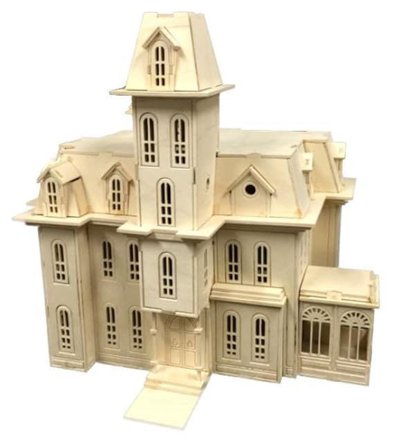 Addam 39 s family house model kit laser engraved wooden for Model house movie