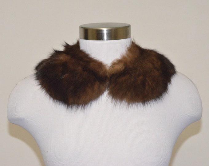 Vintage Estate Brown Fur Collar
