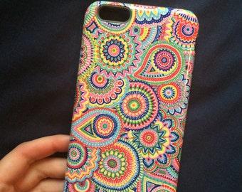 "iPhone 6 plus case ""Paisley Fluer"" (extra protective premium)"