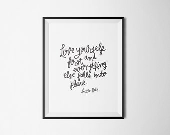 hand lettered wall art print // 8x10 print // printable quote // Lucille Ball quote // I Love Lucy // home decor // printable