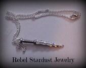 Once Upon a Time Rumpelstiltskin dagger necklace