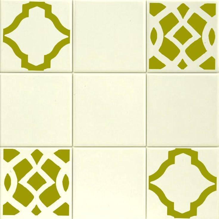 Ensemble De Douze 4 Tuile Stickers Treillis 2 Designs