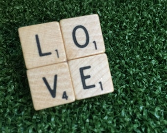 Scrabble brooch