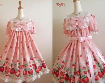 Figlia D065 Flowery Strawberry One Piece