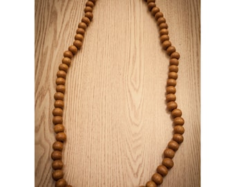 Brown Wood Bead Necklace