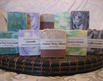 Handmade Bath Soap - Your Choice - Two 4.5 to 5+ oz Bars