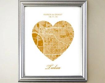 Tulsa Heart Map