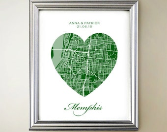 Memphis Heart Map