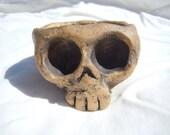 Small Rustic Skull Bowl / Planter, Skull #4