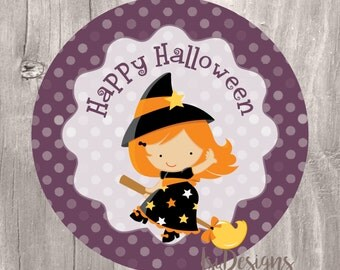 Halloween Treat Tags, Instant Download, Witch Halloween Printable Tags, Happy Halloween, Kids Halloween Party, Halloween Cupcake Toppers