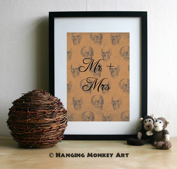 Alternative Wedding Gifts : Mr and Mrs Print, Alternative Wedding gift, customised wedding present ...