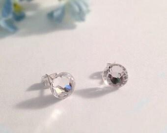 Diamond (fake) Handmade Stud Earrings