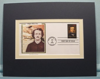 Honoring Edgar Allan Poe & First Day Cover of the Edgar Allan Poe stamp