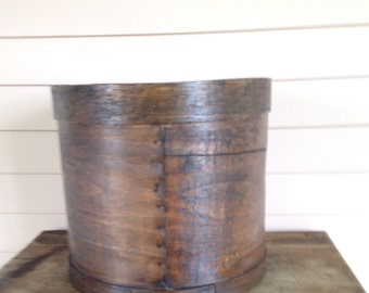 Shaker style Pantry Box, Primitive Wooden Storage Box , End Table,  19th Century Storage Box, General Store