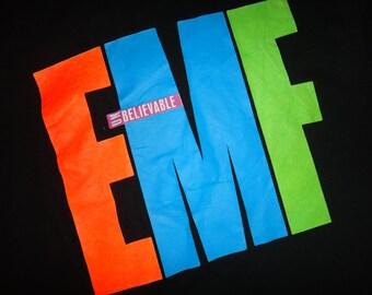 "EMF"" Epsom Mad Funkers"" 1990 Unbelievable Unworn T Shirt NOS Deadstock"