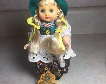 1970s Vintage Collector Doll Made in Austria
