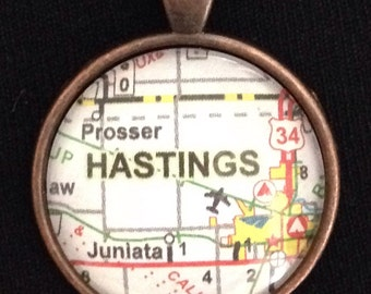 "Hastings Nebraska pendant with 24"" chain"