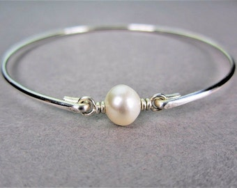 Sterling Silver Pearl Bracelet, Swarovski Pearl Bracelet, Sterling Silver Jewelry, Bridesmaid Gifts, Gifts for Her, Wedding Jewelry