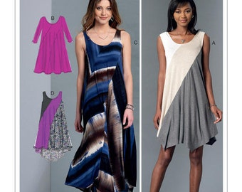 McCall's Sewing Pattern M7383 Misses' Diagonal-Seam Knit Dresses