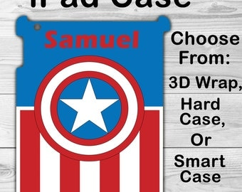 Monogram iPad Mini 1/2/3 Case Personalized iPad Air 1/2 iPad 2/3/4 Smart Case iPad Retina Flip Case, 3D Case #2408