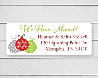 We Have Moved Return Address Labels, Return Address Stickers, Holiday Address Stickers (#359)