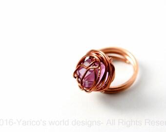 bold wire wrap ring, wire wrap ring, wire wrap jewelry, unique jewelry, copper ring