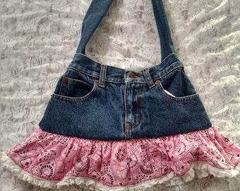 Pink Jean purse