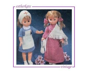 Knitting Pattern For Nurse Doll : Nurse doll pdf Etsy