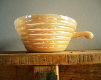 Peach Luster Fire King Soup Bowl