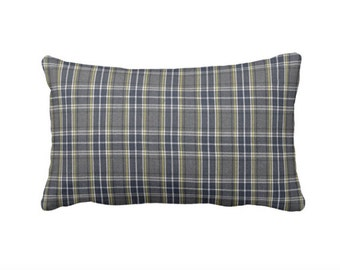 SALE | 50% OFF: 12x24 Pillow Cover Grey Pillow Cover Plaid Pillow Cover Plaid Throw Pillow Cover Plaid Lumbar Pillow Man Cave Pillow